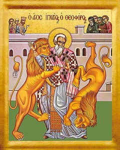Den Helige Ignatios av Antiokia.