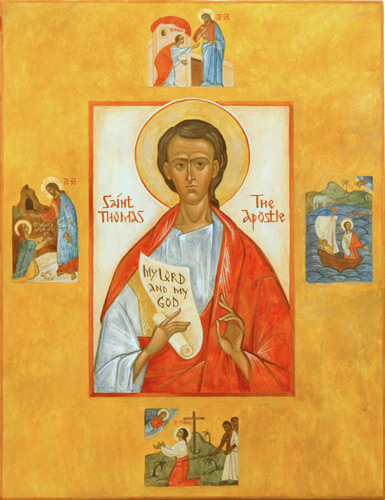 Aposteln Thomas, ikon från Orthodox Christian Icons