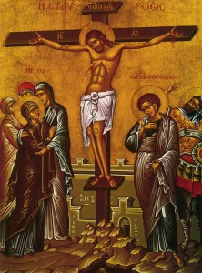 The victorious King who is crucified for the sins of the world.