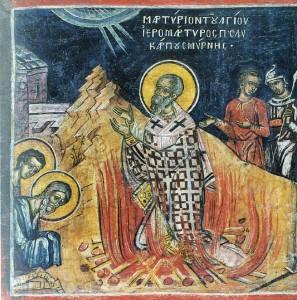 polycarpos, martyr, smyrna, ikon